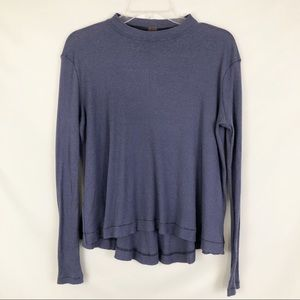 Free people We The Free Mock Neck Ribbed Top Sz XS